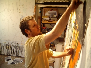 Jason Craighead at work in his downtown Raleigh studio.