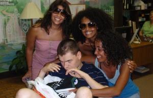 Andrew with the ladies