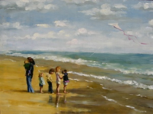 """Children On A Beach"""