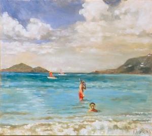 """boys Snorkeling"" by Kimberly Alvis"