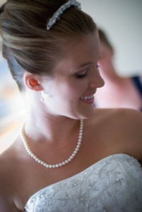 Bridal hair styling and makeup by Lather Hair Salon