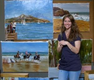 Kimberly Alvis in her Chapel Hill studio.