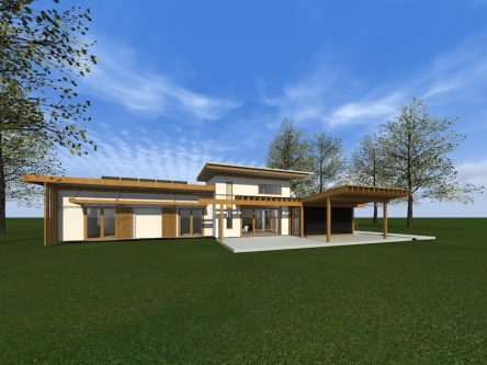 Happy Meadows Courtyard House Rendering