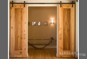 Eidolon's Slider 2 Overlay Door, handcrafted from 100-year-old heart pine.