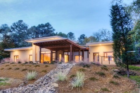 One of the two net zero homes: Happy Meadows Courtyard House.