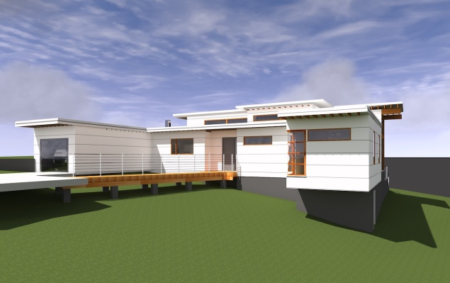 Construction should begin soon on Schechter's not-quite-so-tiny house in Chapel Hill.