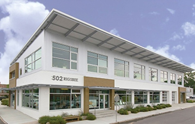 The BuildSense building in downtown Durham.