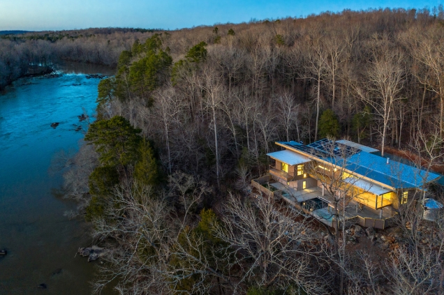 1.Haw River House drone view copy 2